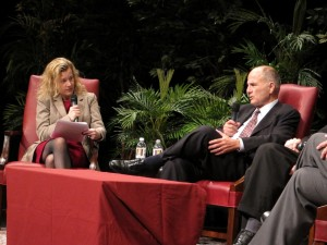 GAP's Jesselyn Radack, a Justice Department whistleblower herself, interviews SEC whistleblower Gary Aguirre on the Tour.
