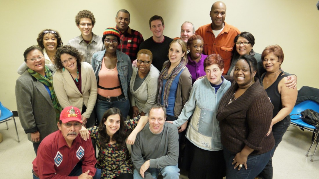 Peacemakers in Redhook, Brooklyn. Leader of the program, Erika Sasson is pictured on the bottom row second from the left.