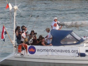 One of WOW's ship campaigns: http://www.womenonwaves.org/en/page/2582/ship-campaigns